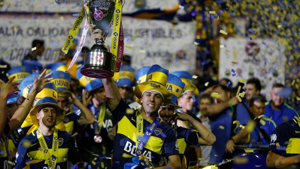 Las mejores imágenes de Boca campeón y la fiesta en la Bombonera. Foto: LA NACION / Fabián Marelli