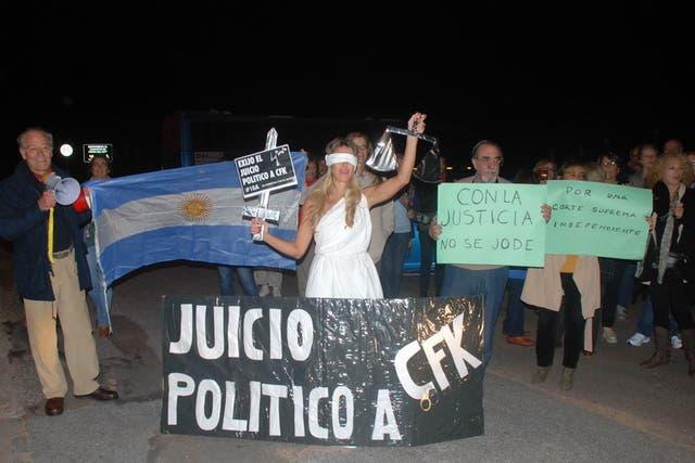Concentración en la ciudad uruguaya de Punta del Este