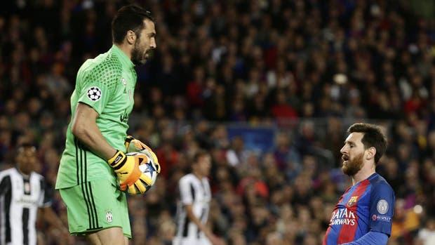 Messi, disminuido contra Buffon