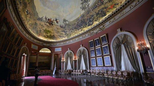 Este es el Salón Elíptico del palacio legislativo de Venezuela donde funcionará la Asamblea Nacional Constituyente.