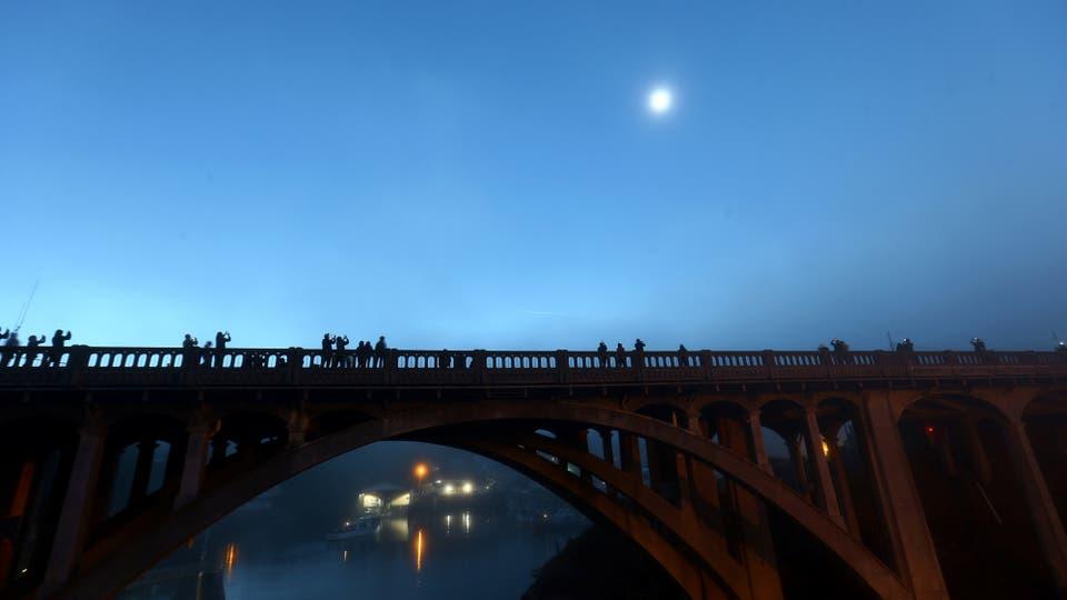 Oregón durante el eclipse. Foto: Reuters