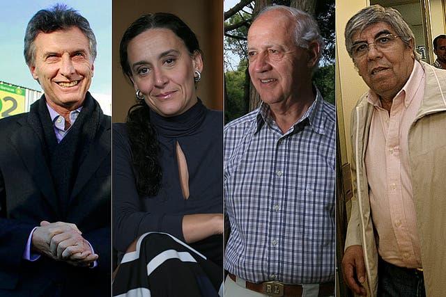 Gabriela Michetti, Mauricio Macri, Roberto Lavagna y Hugo Moyano, en medio de la negociación para las listas de octubre.