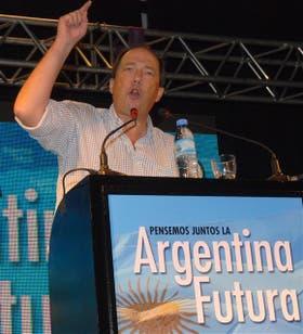 "Sanz presentó ayer su proyecto ""Argentina Futura"""