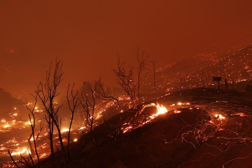 Cerca de 1.000 bomberos, excavadoras, helicópteros y aviones cisterna de agua trabajaron para contener el fuego que cubrió cerca de 20.000 hectáreas. Foto: AFP