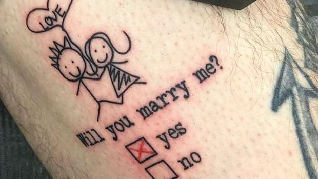 Una original propuesta de matrimonio, sin dudas