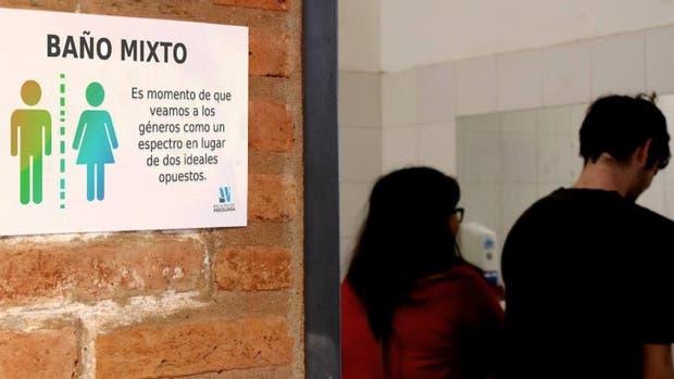 El baño mixto de la Facultad de Psicología de la Universidad Nacional de Córdoba