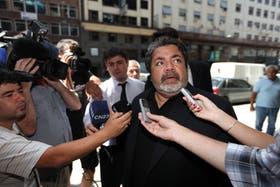 Gerardo Martinez, durante su llegada a la reunión con Guillermo Moreno