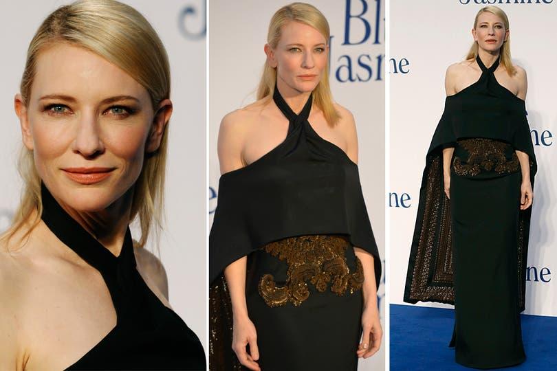 ¿Qué te pusiste Cate Blanchett? Definitivamente, el look de la actriz no nos gustó. ¿A ustedes?. Foto: Reuters y AFP