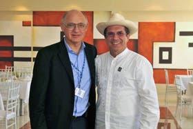 El canciller Timerman, ayer junto a su par de Ecuador, Ricardo Patiño