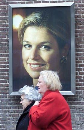 Un retrato de Máxima, en una calle de Amsterdam,archivo