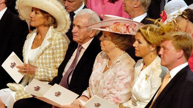 María del Carmen y Jorge Zorraguieta, la reina Beatriz de Holanda, la reina Máxima y el rey Guillermo