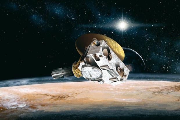 Una representación artística de la misión New Horizons, que llegó a Plutón después de una travesiía de nueve años de duración