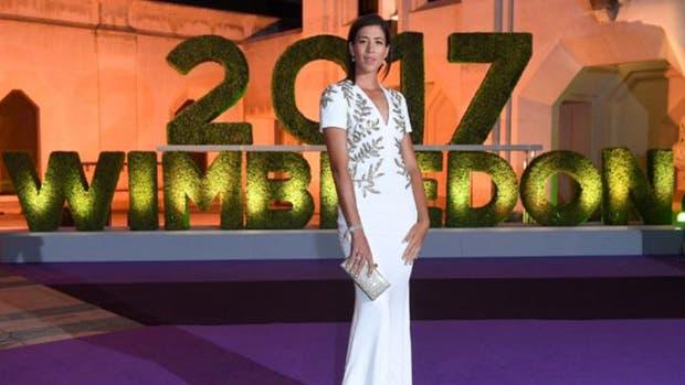 Garbiñe Muguruza en la Gala de premiación de Wimbledon