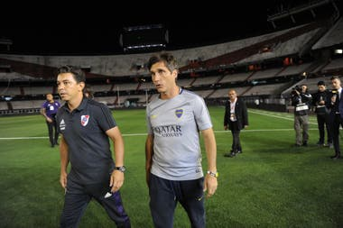 Gallardo and Barros Schelotto, after determining the suspension of the match