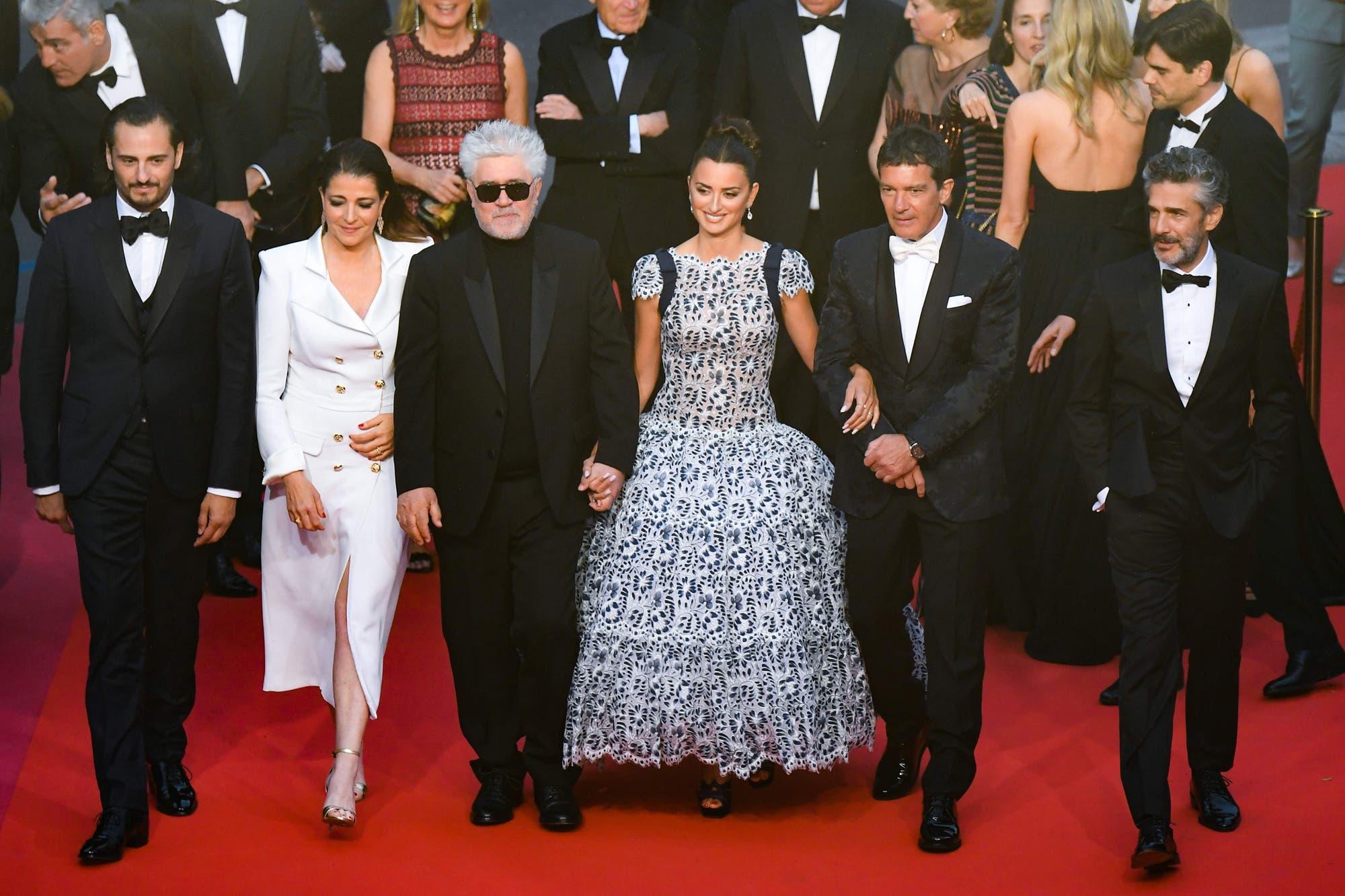 Cannes: Leo Sbaraglia estuvo en la alfombra roja con Penélopez Cruz, Almódovar y Antonio Banderas