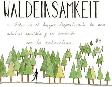 Cómo nombrar la soledad del bosque en alemán