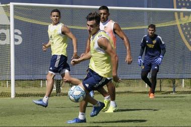 Nicolás Capaldo volvió a los entrenamientos en Boca luego de la obtención del Preolímpico con la Selección Sub 23