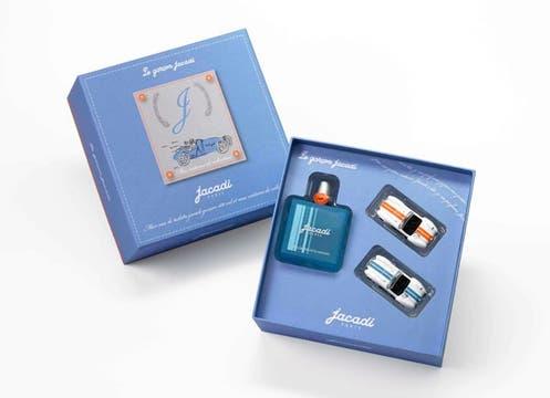Un perfume de 100 ml y dos autitos de colección integran el cofre de la marca francesa Jacadi ($175). Foto: lanacion.com