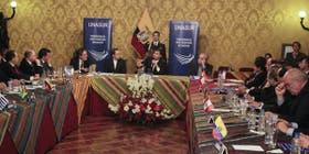 Correa recibió a los cancilleres de la región