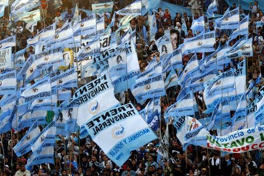 Masivo acto de Cristina Kirchner en homenaje al triunfo de Néstor Kirchner en 2003. Foto: LA NACION / Rodrigo Néspolo