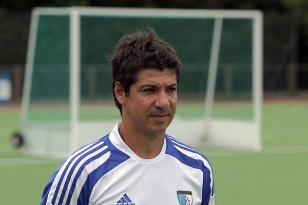 Lombi dirigió y jugó en el seleccionado argentino de hockey sobre césped