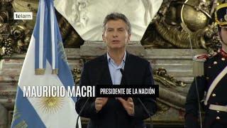 """Macri: """"Estamos mandando al Congreso el proyecto de primer empleo"""""""