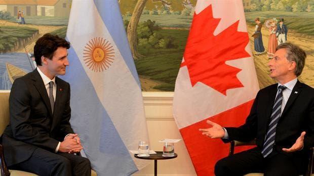 Resultado de imagen de Macri recibió a Justin Trudeau,