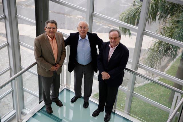 Uchitel, Belmonte y Magistretti, durante las sesiones del congreso de la Falan 2016
