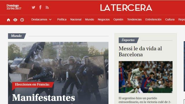 El diario La Tercera, de Chile. Foto: Archivo