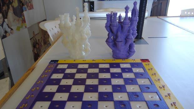 El ajedrez fue fabricado con una impresora 3D