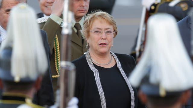 La presidenta chilena, Michelle Bachelet, viajó a Quito para la asunción de Lenin Moreno