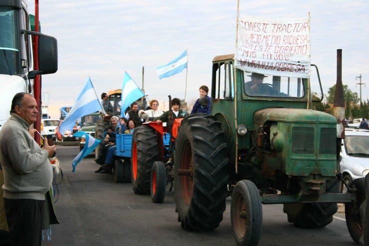 Con las movilizaciones, como en Gualeguaychú, el campo buscaba llevar su mensaje a la sociedad