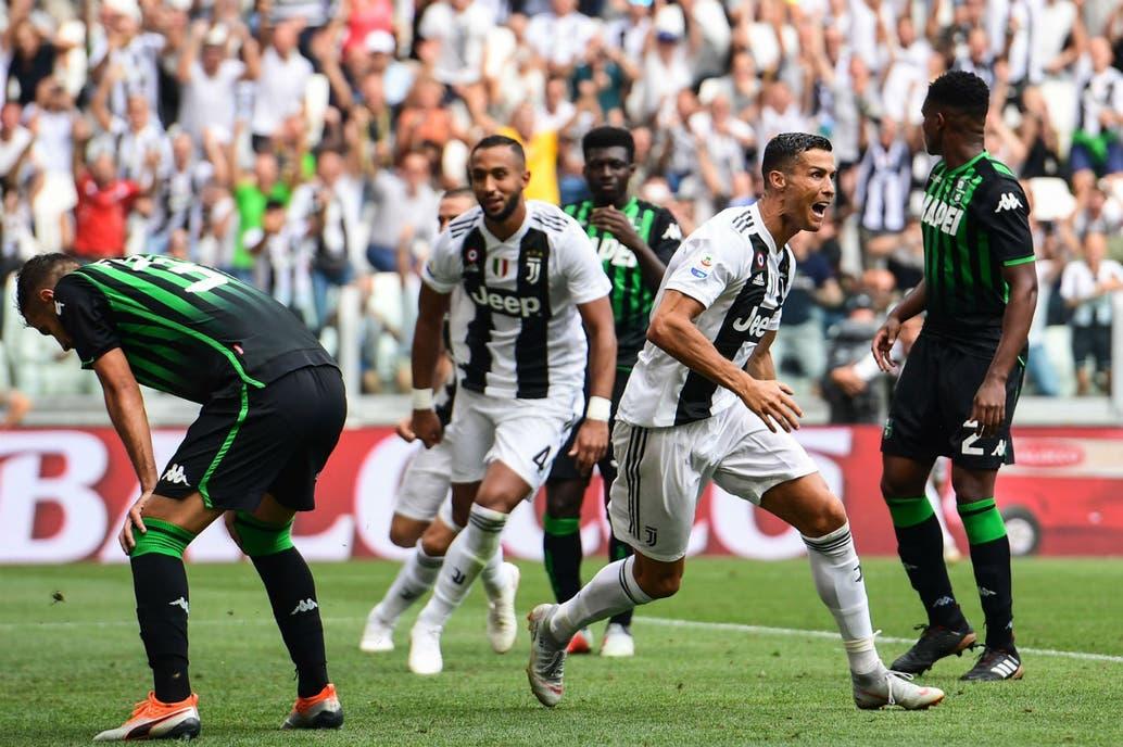 Juventus ganó gracias al primer doblete de Cristiano Ronaldo