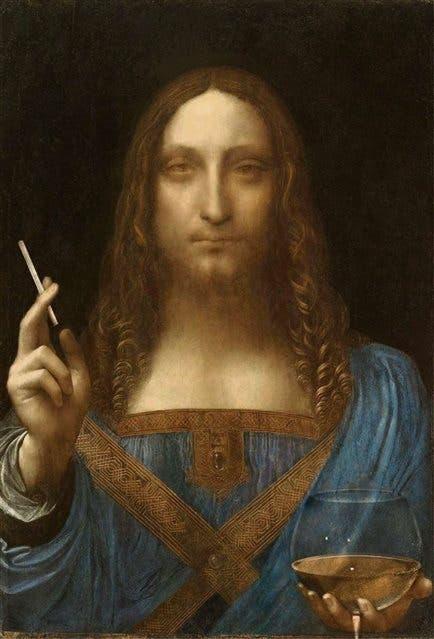 Salvator Mundi, de Da Vinci, intervenido por Alexey Kondakov