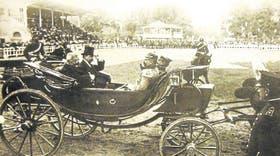 El presidente José Figueroa Alcorta y su par chileno, Pedro Montt, en 1910