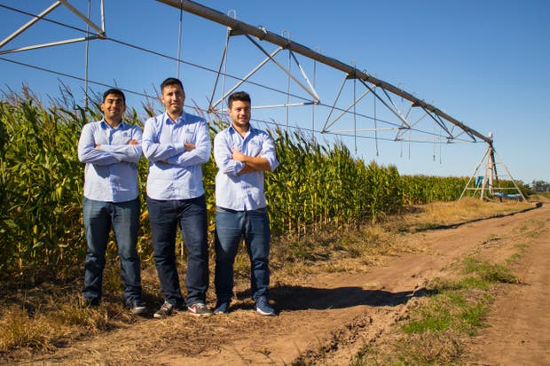 Juan Carlos Abdala, Jairo Trad y Rodrigo Tissera, desarrolladores de Kilimo