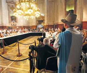 Una de las sesiones especiales del Senado donde se trató la crisis del campo, en 2008, luego de aplicarse las retenciones móviles a los granos