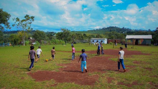 Un picadito en la escuela Educación para las Primaveras, en Misiones