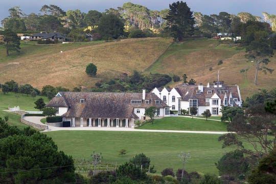 La elegante mansión de Dotcom. Foto: Reuters