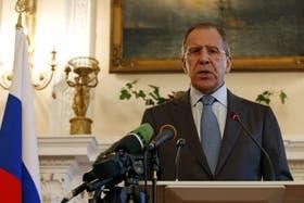El ministro de Asuntos Exteriores ruso, Sergei Lavrov, habló luego de su reunión con John Kerry