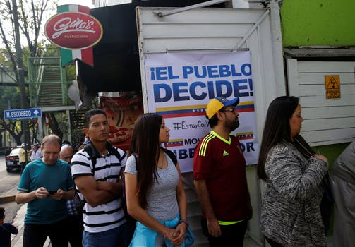 """""""El pueblo decide"""", el lema de la consulta. Foto: Reuters"""