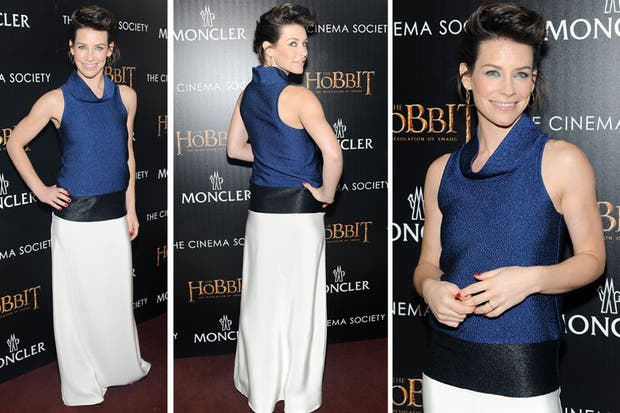 Evangeline Lilly, en el screening de El Hobbit en Nueva York