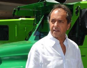 Daniel Scioli, ayer, en un acto de gestión