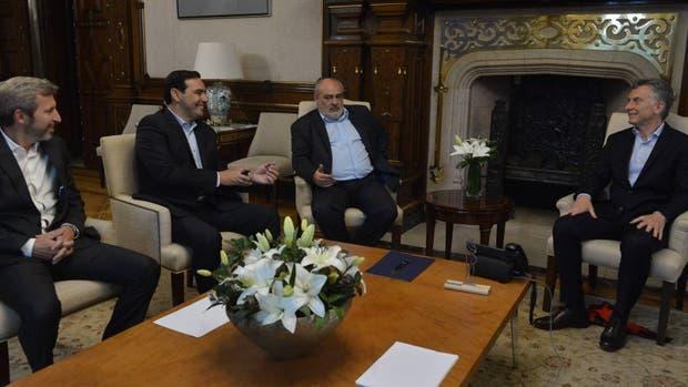 Frigerio, Valdés, Colombi y Macri, en la Casa Rosada