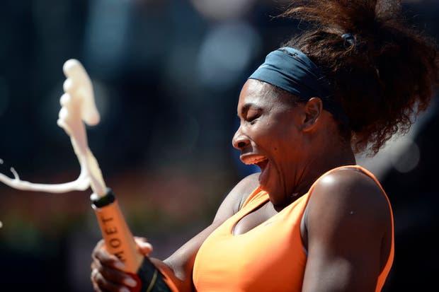 El champagne las pone mimosas. Nada más..  Foto:Reuters
