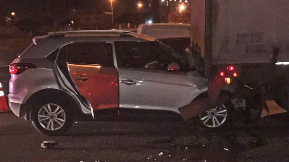 Accidente auto de Varsky