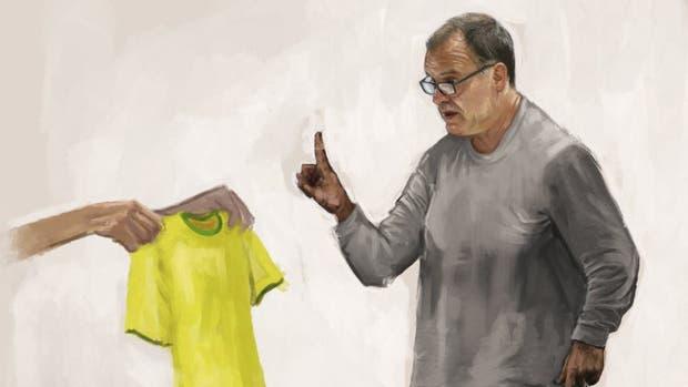 Marcelo Bielsa y la negativa a posar con la camiseta de Brasil
