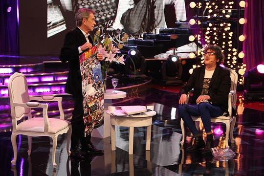 Una de las últimas entrevistas televisivas que realizó fue a Charly García (2012). Foto: Archivo