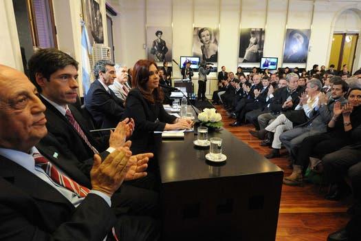Cristina durante su discurso ayer en la Casa Rosada. Foto: Presidencia de La Nación