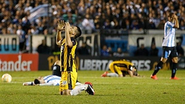 Juan Patiño el día que Guaraní eliminó a Racing